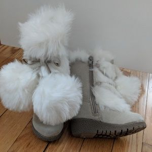 NWT faux fur toddler boots